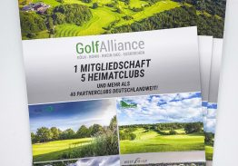 Neue GolfAlliance Broschüre